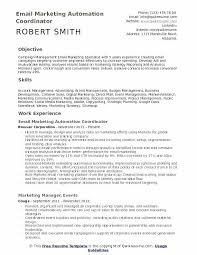 Resume For Job Examples Best Of Marketing Manager Resume Examples Email Marketing Specialist Resume