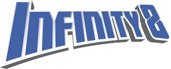 infinity 8. infinity 8. série. logo de la 8