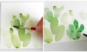 How To Paint A Cactus In Watercolor
