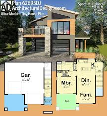 modern tiny house plans. Architectural Designs Ultra-Modern Tiny House Plan 62695DJ Gives You Over 750 Square Feet Of Modern Plans
