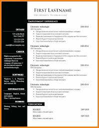 Cv Template Word 2007 Free Download How To Format A Resume In