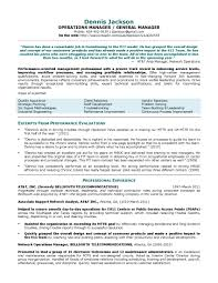 Operation Manager Sample Resume Warehouse Operations India Format