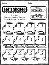 Winter Addition Worksheets First Grade Worksheets for all ...