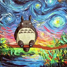 pop culture starry night pop culture post impressionism cartoon van gogh painting aja ck
