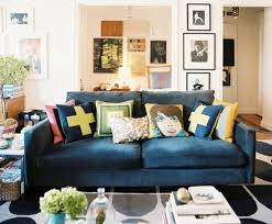 living room orla kiely multi: lovely and comfortable blue couch for living room chatodining