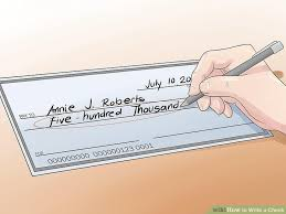 how to write a check steps pictures wikihow image titled write a check step 4
