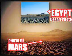 """HoaxEye på Twitter: """"According to some folks, these images prove that NASA  faked Mars pictures. - First photo shows Black Desert in Egypt. Source:  https://t.co/VCmuRne4C8 - Sedond photo shows karstic landscape in"""