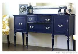 Navy Blue Painted Furniture - Painted Home Decor With Chalk Style Paint