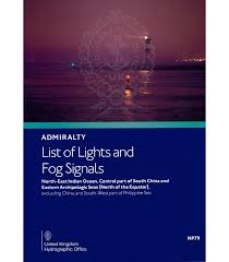 Fog Chart 2017 Study Guide Np79 Admiralty List Of Lights And Fog Signals Vol F N E Indian O Central Part Of S China E Archipelagic Seas 2019 20