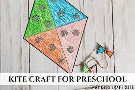Free Craft Printables Templates Kite Craft For Preschool Free Printable Template That