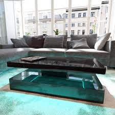 high gloss black coffee table with led lighting tiffany range tiff008