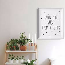 canvas prints for baby room. Stars Quotes Kids Poster, Nursery Print Art, Wall Picture Oil Painting Canvas Art Prints For Baby Room R