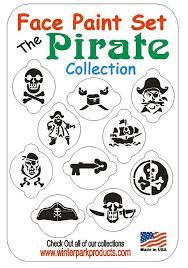 10 piece pirate face paint set face paint kit stencils free us