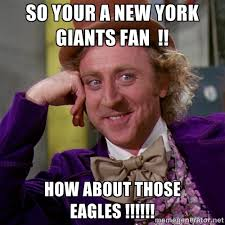 so your a new york giants fan !! how about those eagles ... via Relatably.com