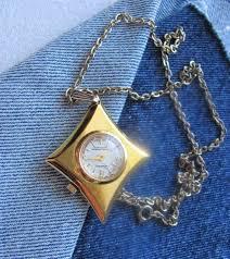 vintage lucerne pendant necklace watch needs repairs swiss made diamond shape