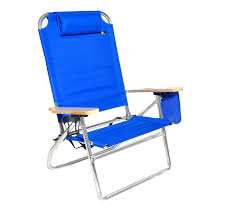 com extra large high seat heavy duty 4 position beach chair w drink holder sports outdoors