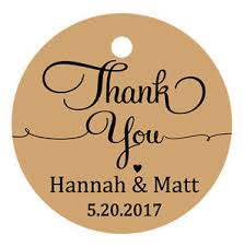 thank you tags for wedding favors 100 pcs thank you tags custom wedding favors round gift paper tags