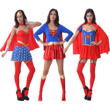 2015 New Cosplay Halloween Costumes U.S.A Comic Book Hero Wonder Woman  Halloween Costume Superwoman Real Shot
