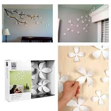 umbra wallflower wall decor white set: umbra wallflower wall decor  flowers white diy nature art home room design new