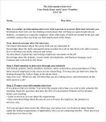 interview essay samples examples format  sample career interview case study essay