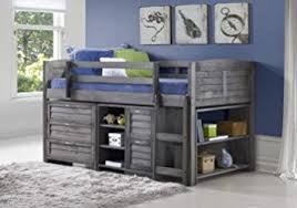 Amazon Grey Twin Loft Beds with Dresser and Bookshelf Free