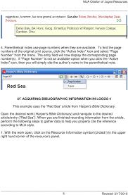 Mla Citation Of Logos Tm Resources Pdf