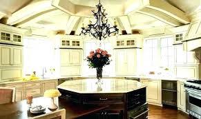 plain round kitchen island and interior