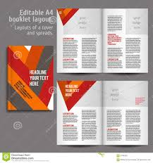 Book Design Templates A4 Book Layout Design Template Stock Vector Illustration Of