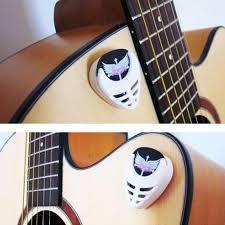 6pcs durable plastic heart shape guitar pick