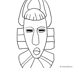 Small Picture African mask coloring page Coloringcrewcom