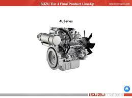 isuzu ft engine line up isuzu tier 4 final product line up 4l series