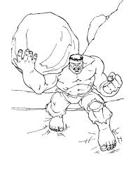 Free Printable Hulk Coloring Pages For Kids Hulk Avengers Party