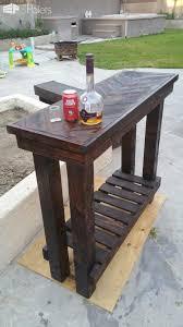 Herringbone Pallet Entry Table DIY Pallet BarsPallet Desks & Pallet Tables