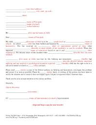 Letter A Template Notifying The School About Bullying Using A Template Letter Pacer