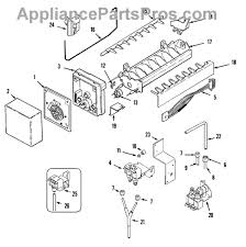 whirlpool wp627985 icemaker cycling thermostat part diagram