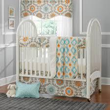image of neutral modern baby boy bedding