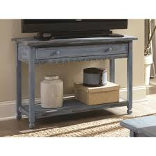 wooden console table. Alaterre Furniture Country Cottage Blue Antique Media/Console Table Wooden Console