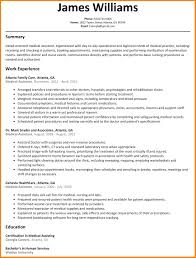 Medical Assistant Resumes Awesome Ma Resume Examples Administrative