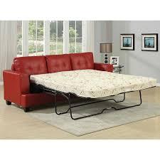 diamond red bonded leather sofa sleeper