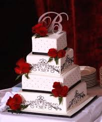 Wedding Cakes With Red Roses Red Rose Wedding Cakes 3 Wedding Cake