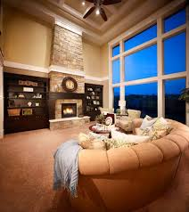 Blooming Two Living Rooms Living Room Traditional With Stone Two Story Fireplace