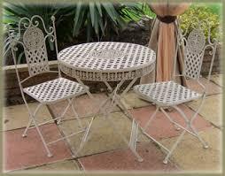 wrought iron garden furniture. Tea For 2 Cream Lattice Weave Wrought Iron Patio Bistro Set Garden Furniture T
