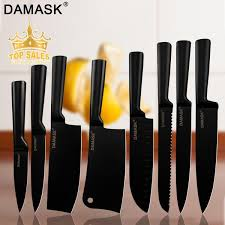 <b>Damask</b> 8-piece Chef Kitchen <b>Knife</b> Set Japanese <b>Stainless Steel</b> ...