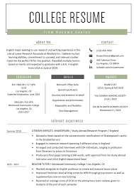 Academic Resume Template For College Freshman Student Music