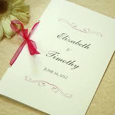 Wedding Program Scroll Simple Scroll Wedding Program Ceremony By