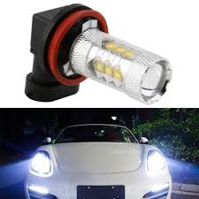 Drop Lights Automotive 1pc H11 80w 16 Good Led Car Reverse Fog Head Light Auto Led Lamp Bulb Tail Turn Backup White Drl Car Light Source Drop Shipping In Car Headlight