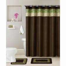 bathroom rugs and shower curtains howplumb bathroom 17 pc set bath rugs shower curtain rings