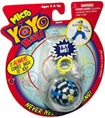 ball yoyo. micro yo ball-assorted (includes 1; styles vary) ball yoyo y