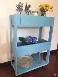 diy three tiered rolling cart out of two drawers via sweethings net