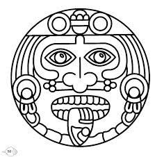 Mayan Coloring Pages Gallery For Coloring Page Mayan Calendar